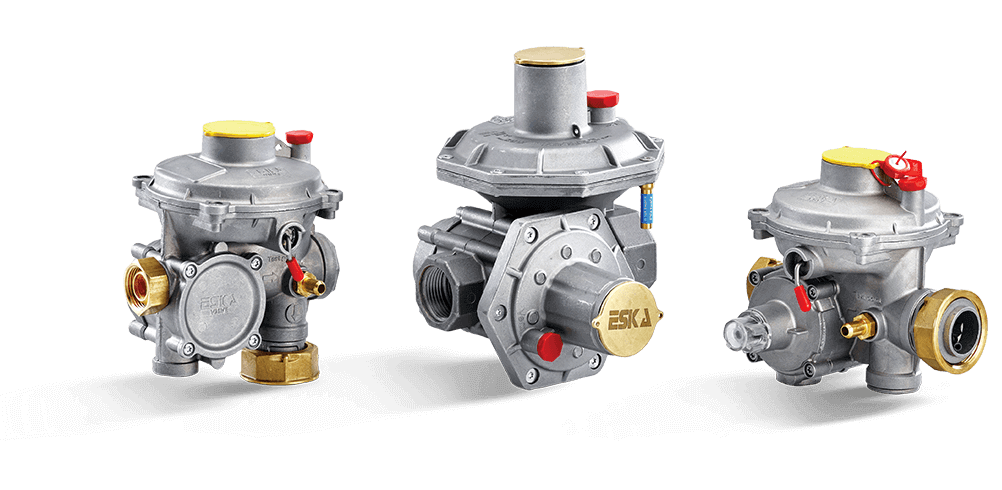 Double Stage Gas Pressure Regulators